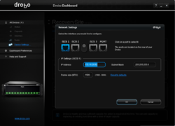 Drobo Dashboard Settings