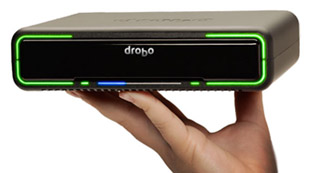 Drobo Mini Fits in the palm of your hand