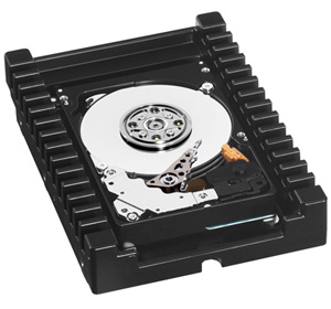 VelociRaptor Hard Drive View with IcePack mounting frame